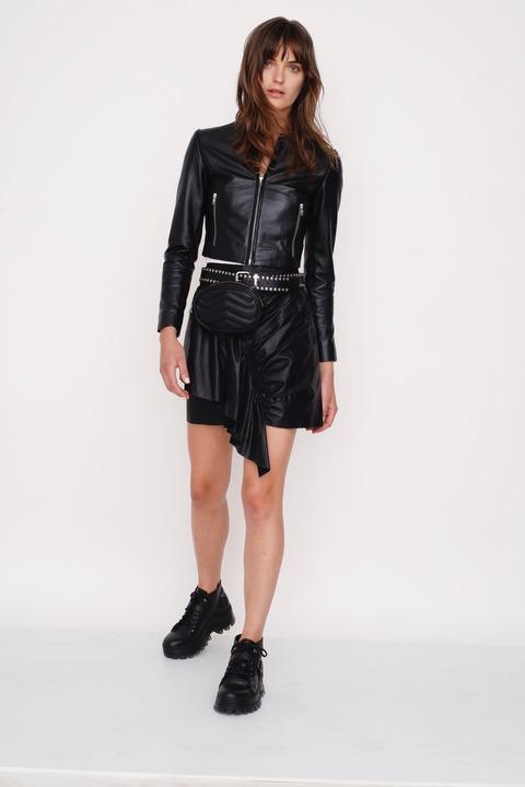 Falda Isabel Cuero negro