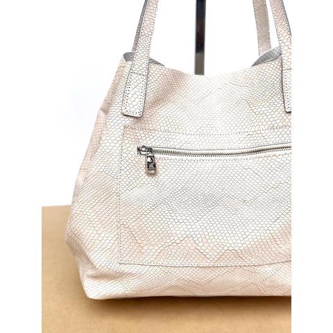 Bolso Shopping Nursia Piton Crudo