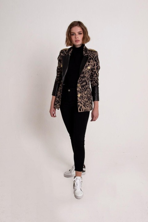 Blazer Shaila Leopardo