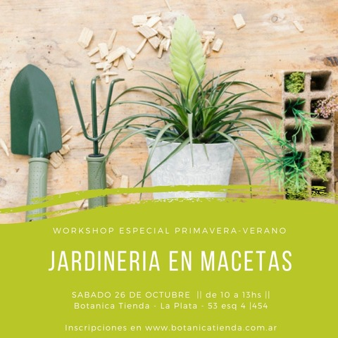 Taller de Jardineria en Macetas