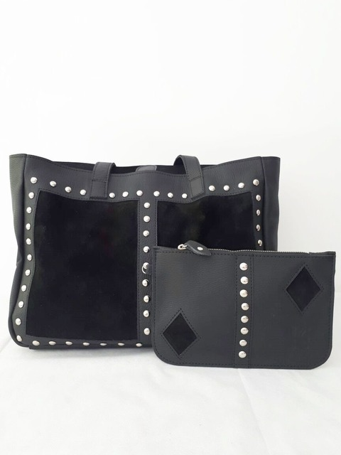 Tote Bag Claire color Negro
