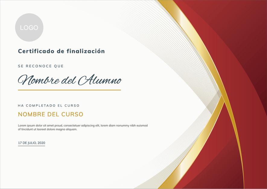 Diseño de certificado corporativo
