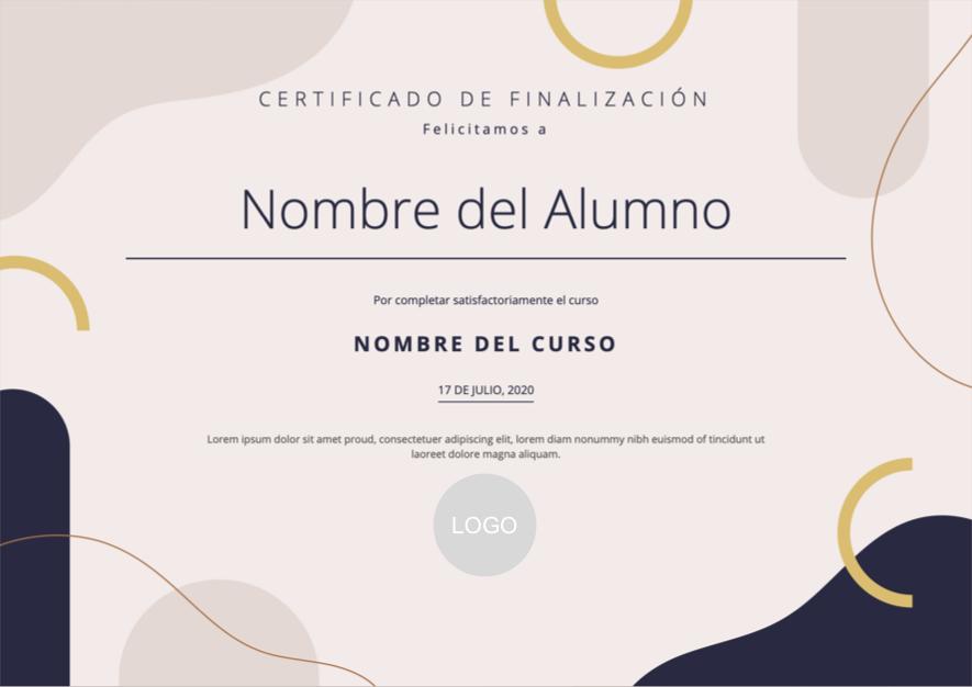 Diseño de certificado elegante