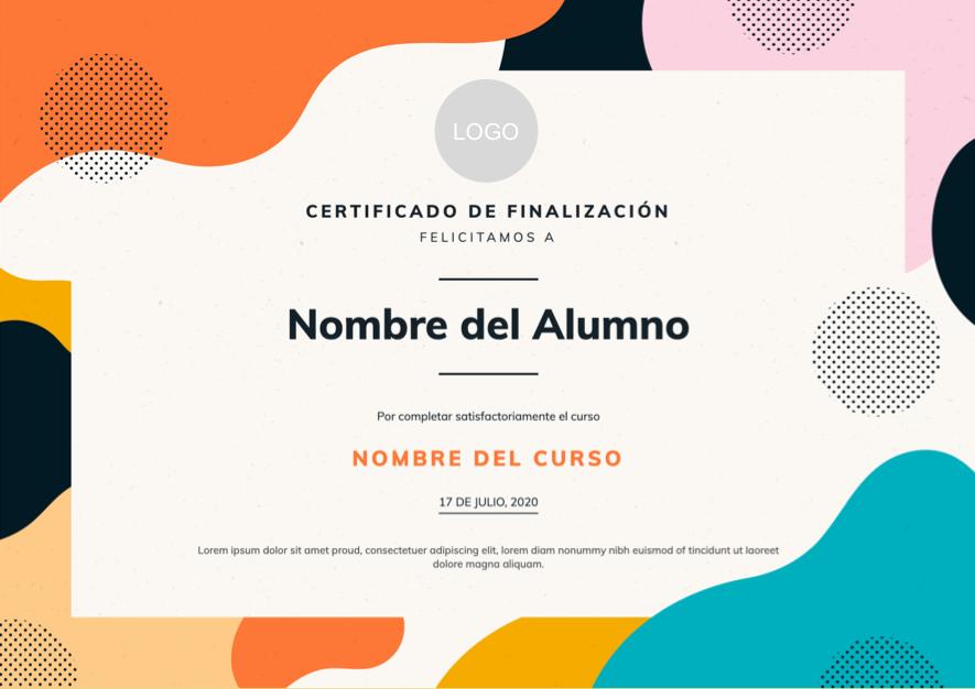 Diseño de certificado moderno